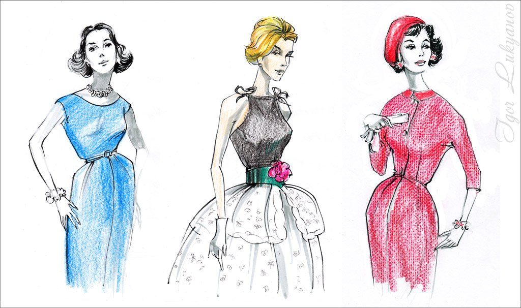 Mode retro couture vintage 300x177